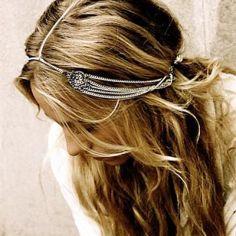 Head chain prateada