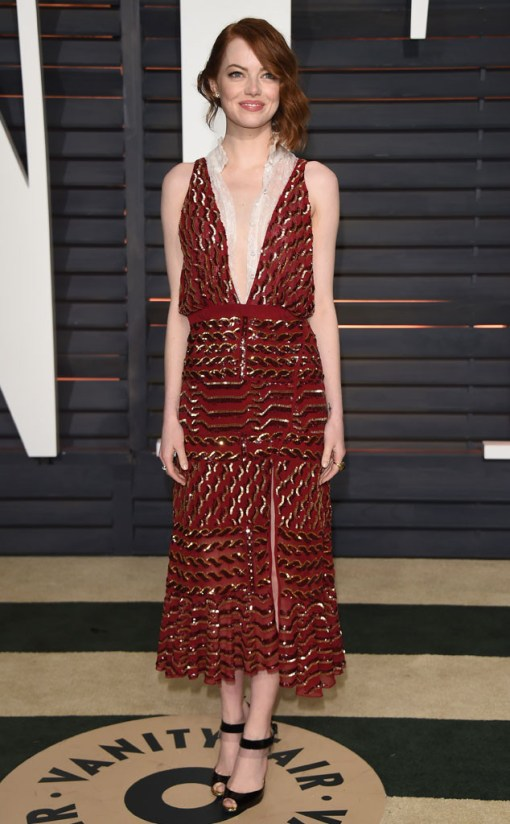 Emma stone vestido after party oscar 2015