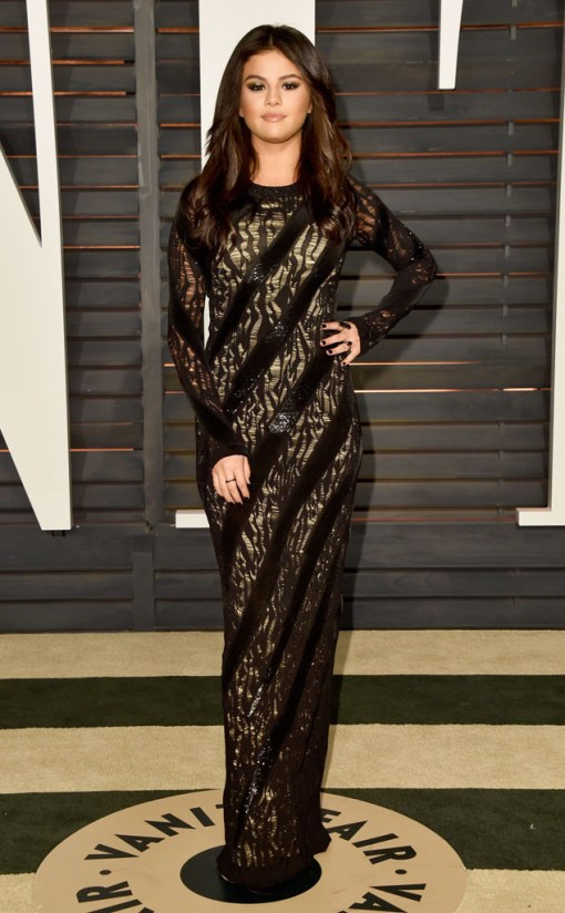 Selena Gomez vestido after party oscar 2015