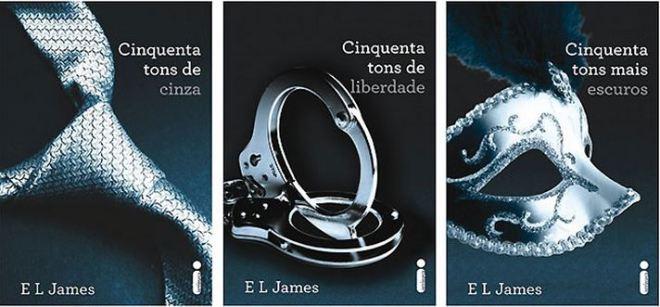 capas livros trilogia 50 tons de cinza