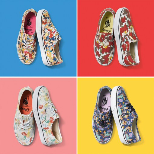 Vans e Disney parceria tênis princesas young at heart