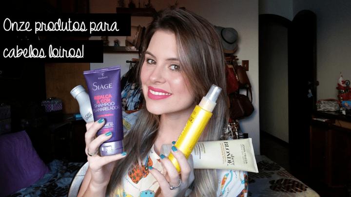 11 produtos para cabelos loiros