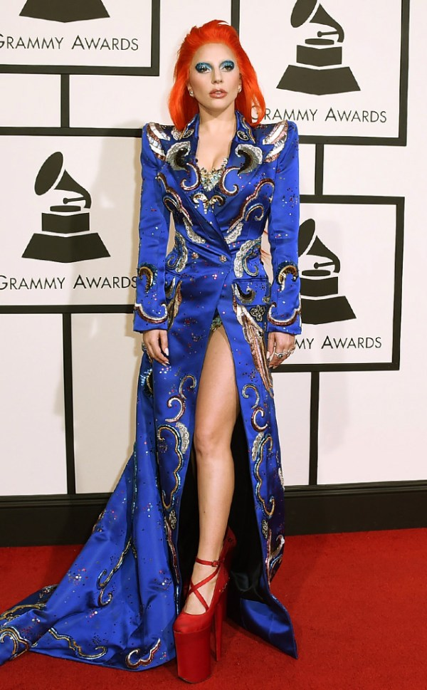 look lady-gaga grammy awards 2016