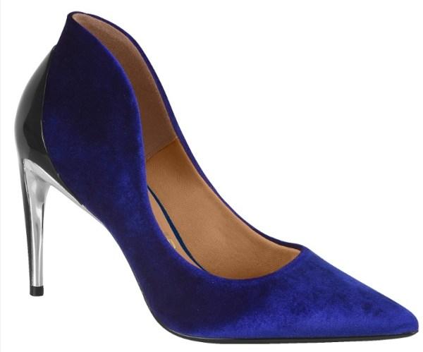 Scarpin veludo azul Vizzano 1247-101-12406-12100