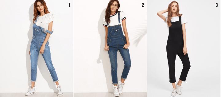 macacões jeans romwe