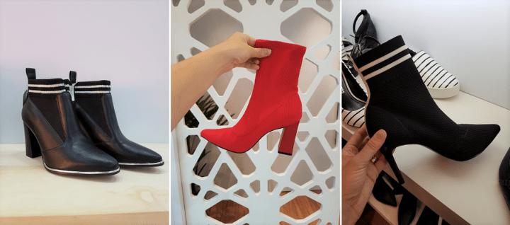 Bota meia Couro moda 2018