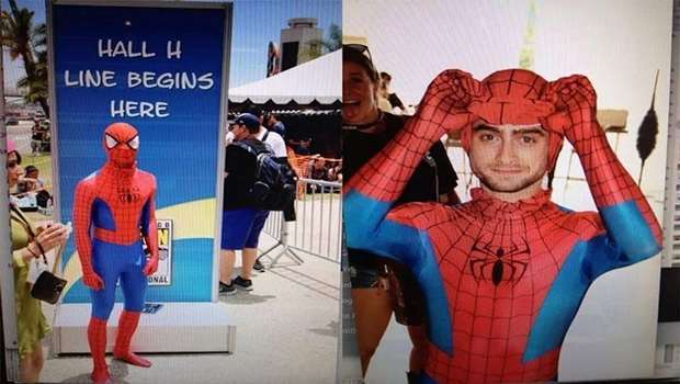 for-his-first-time-at-comic-con-harry-potter-star-daniel-radcliffe-walked-the-floor-as-spider-man-posing-with-fans