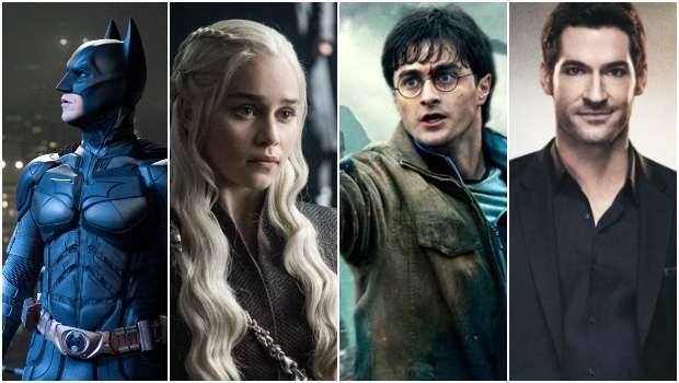 Batman, Game of Thrones, Harry Potter, Lucifer