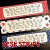 Cursive handwriting alphabet desk strips