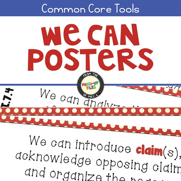 ELA Standards We Can Posters for Grades 5-12