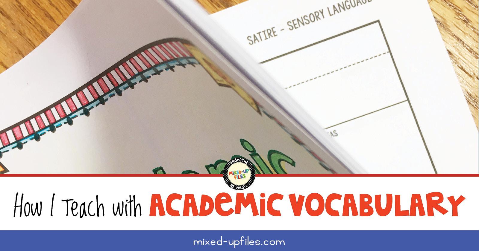 How I Teach with Academic Vocabulary