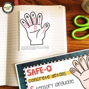 Writing with Details interactive notebook with SAFE-Q graphic organizer