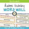 Academic Vocabulary Word Wall for Grade 5 (Shabby Chic)