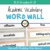 Academic Vocabulary Word Wall for Grades 6-12 (Shabby Chic)