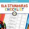 ELA Standards Checklist for Grade 6