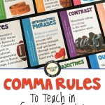Comma Rules to teach in secondary English