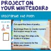 Project instructions on your whiteboard for this free poetry activity.