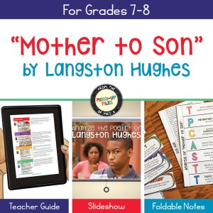Langston Hughes Mother to Son poetry analysis lesson