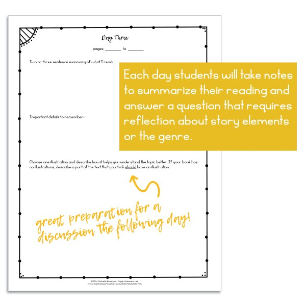 sample page Independent Reading Journal Nonfiction