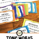 Tone Words Word Wall and Analysis