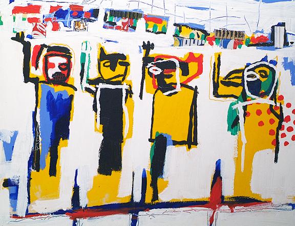Mixed Media Painting by Chiko Chazunguza