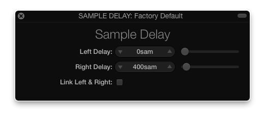 sample delay logic pro x