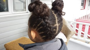Buns and Braids tutorial by The Mixed Mama Blog