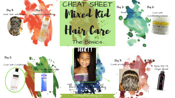 CHEAT SHEET- Mixed Kid Hair Care - The Basics