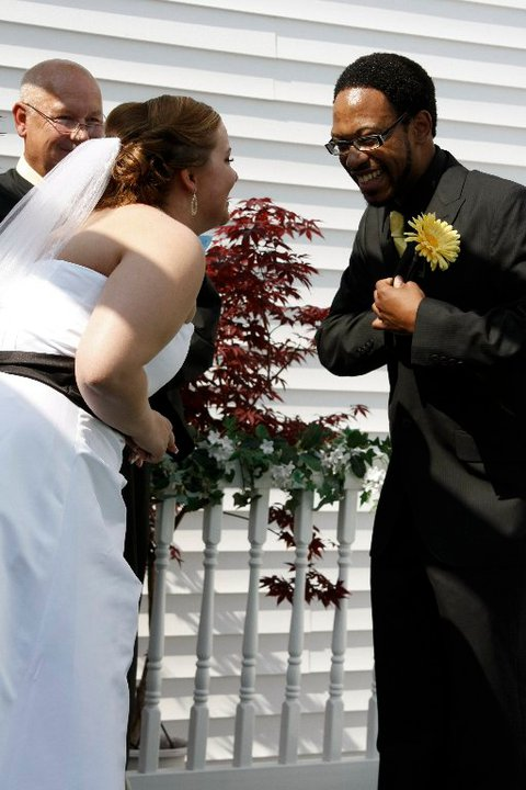 Laughing at Wedding
