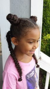 One Hairstyle Multiple Looks - 4 Hair Sections - by Mixed Family Life _ half buns half braids
