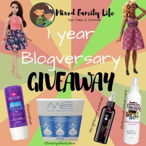 Blogversary - Mixed Family Life - Giveaway