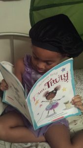 Princess Truly in I am Truly by Kelly Greenawalt and illustrated by Amariah Rauscher - Photo by Mixed Family Life