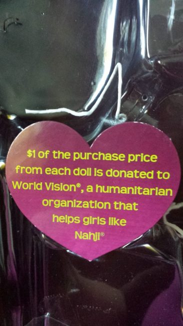 Heart for Hearts Girls - Nahji Doll by Mixed Family Life _ Money Donated