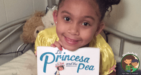 La Princesa and the Pea - Book Review - MCBD 2018 - by Mixed Family Life