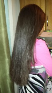 So you want to straighten your Curly Kids Hair _ E'Tae Natural Products Carmelux Combo Kit _ Straight Hair After2