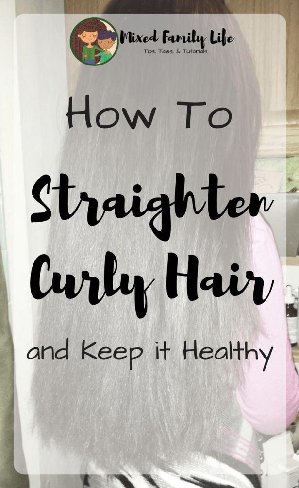 How to Straighten your Curly Kids Hair _ Using Etae Carmelux Combo_ by Mixed Family Life