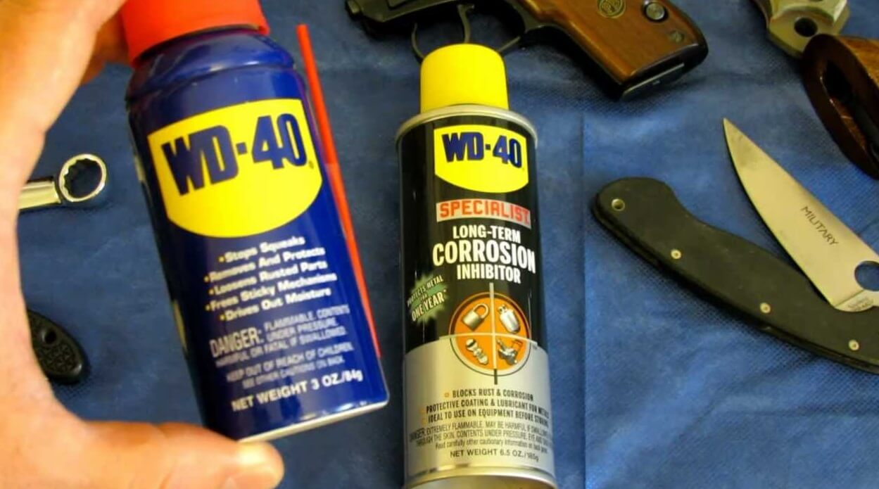 how to use wd 40 on a gun