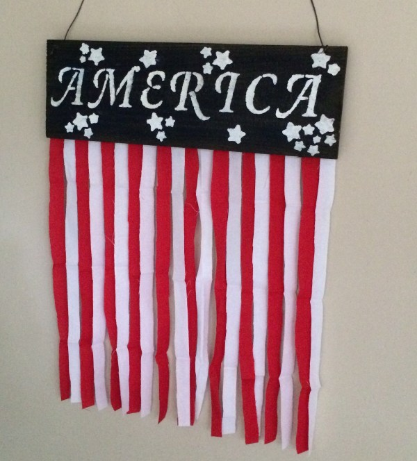 4th of July Fabric Banner