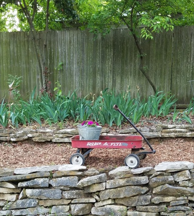 Wimberley Trip, and Junkin at Antique Alley | antique red wagon, and bucket