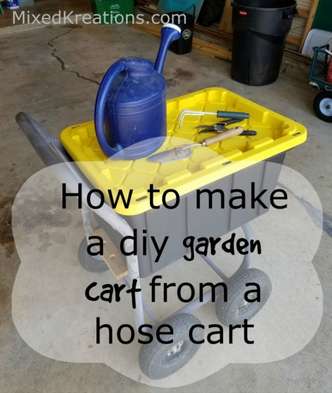 How to make a garden cart out of a hose cart | diy garden cart | repurposed hose cart | upcycled hose cart #Diy #GardenCart #Repurposed #Upcycled