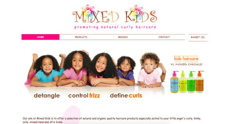 Biracial hair products