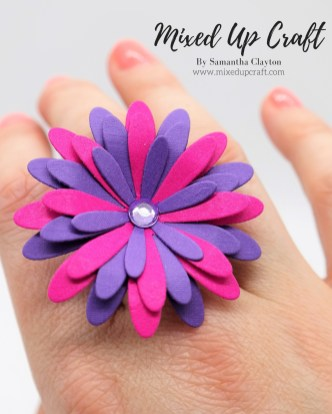 DIY Paper Flower Ring