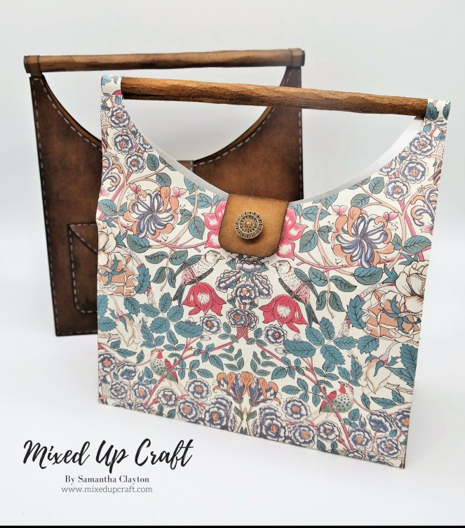 Faux Wooden Handle, Hobo Style Gift Bags