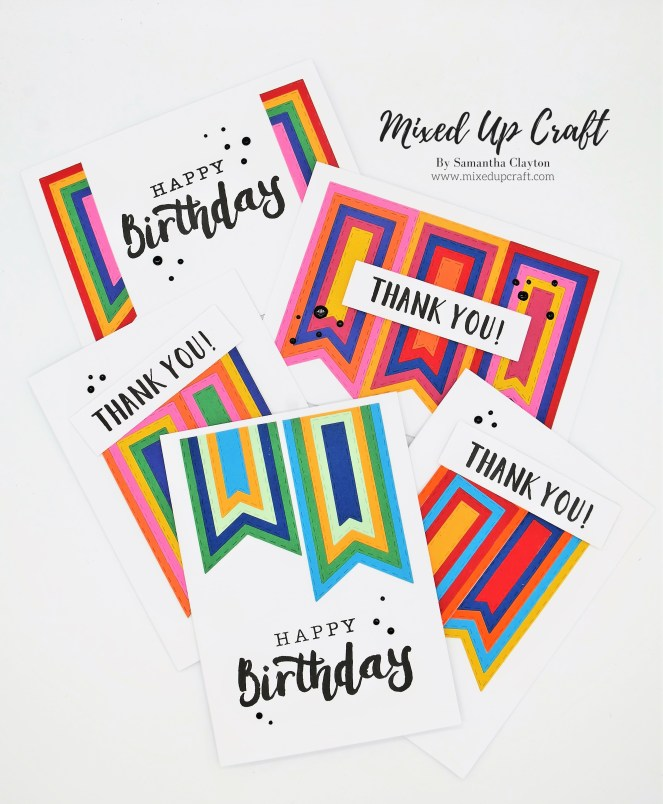 Quick & easy cards using your nesting dies.
