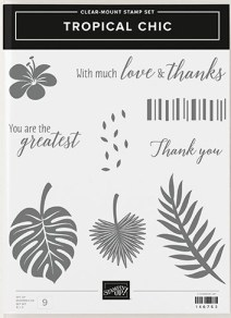 "Stampin Up ""Tropical Chic"" Stamp Set"
