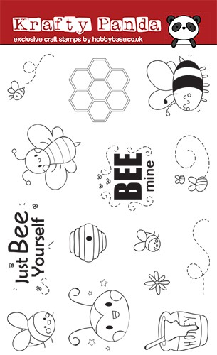 "Krafty Panda ""Busy Bee's"" Stamp Set"
