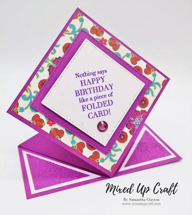 Pop Up Diamond Fold Card