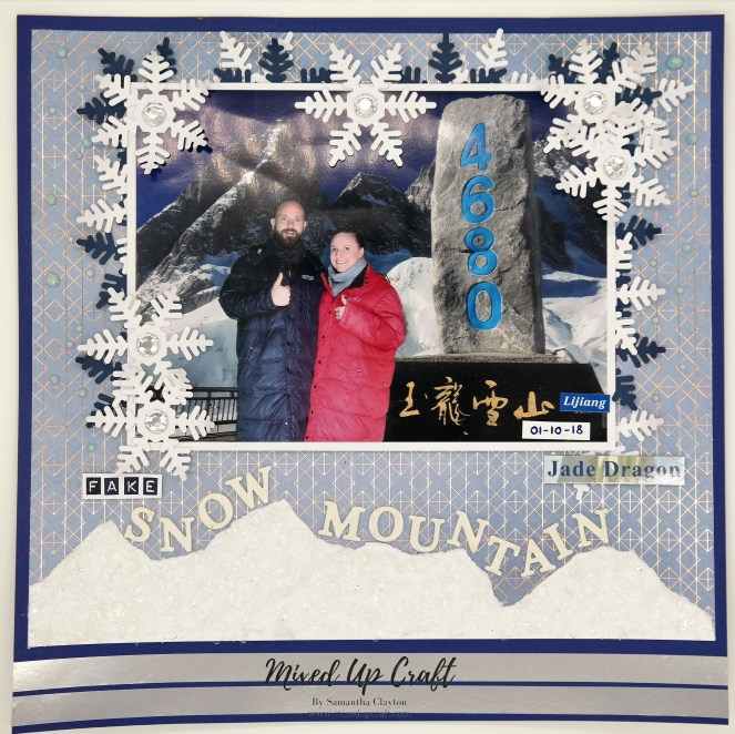 "Scrapbook Layout ""Fake Snow Mountain"""