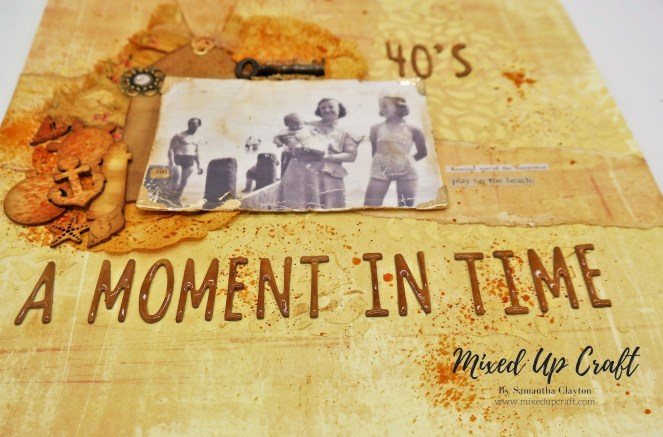 "Scrapbook Layout ""A Moment in Time"""