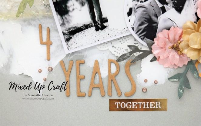 "Wedding Scrapbook Layout ""4 Years Married"""